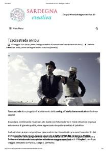 Tzaccastrada on tour - Sardegna Creativa